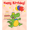 Cartoon crocodile birthday vector image vector image