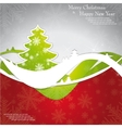 Christmas template frame design for greeting card vector image