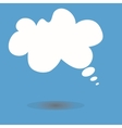 Cloud message icon with shadow vector image