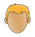 color pencil cartoon front view faceless front vector image vector image