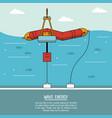 color sea landscape background alternative energy vector image