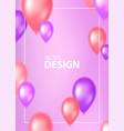 colorful romantic cover design with flying vector image vector image