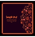 design of holiday floral card vector image vector image