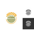 farm product logo fresh farming food produce icon vector image vector image