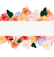 floral flowers banner decoration isolated design vector image