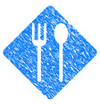 fork and spoon grunge icon vector image vector image