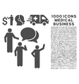 Forum Icon with 1000 Medical Business Pictograms vector image vector image