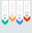 four steps infographic vertical banners with vector image vector image
