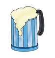 glass mug of beer foamy cold alcohol vector image