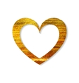 Gold heart frame on a white background vector image