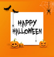 halloween background with white space for text vector image vector image