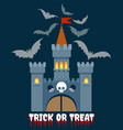 halloween castle emblem vector image