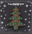 happy new year decorative template vector image vector image
