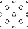 headphone pattern seamless black vector image vector image