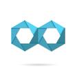 Hexagon infinity logo vector image vector image