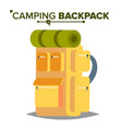 hiking backpack tourist hiking back pack vector image