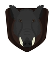 Hunting trophy Wild boar head on wood shield vector image vector image