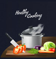 kitchen tools vegetables vector image vector image