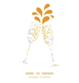 magical floral toasting wine glasses vector image vector image