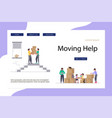 moving home and office template landing page vector image vector image