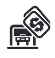 parking car icon vector image vector image