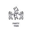 party time thin line icon sign symbol vector image