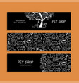 pet shop banners design vector image vector image