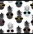 pineapples wearing colorful sunglasses vector image
