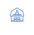 ranch house line icon concept ranch house flat vector image vector image