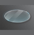 ransparent round circle glass plate mock up vector image