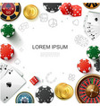 realistic casino gambling template vector image vector image