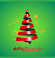 ribbon christmas tree vector image