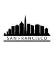 san francisco skyline vector image vector image