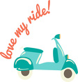 scooter ride vector image