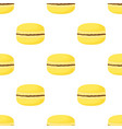 seamless pattern with macaroon isolated on white vector image