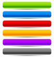 set of oblong button banner backgrounds in vector image vector image