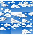 set white clouds background vector image vector image