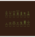 Set with Flowerpot Icons Nature Collection Eco vector image vector image