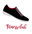 shoes with text fitness club vector image vector image