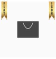 shopping bag - icon vector image