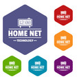 smart time icons hexahedron vector image vector image