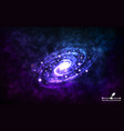 spiral galaxy on space background realistic vector image vector image