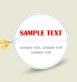 sticker scissors vector image vector image