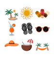 summer related object design set vector image