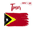 timor flag brush strokes painted vector image vector image
