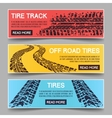 tire tracks banners set vector image