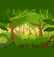 tropical forest background with lush green trees vector image vector image