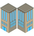 two angles of gray building vector image vector image