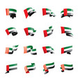 united arab emirates flag on vector image