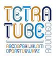 upper case modern alphabet letters set artistic vector image